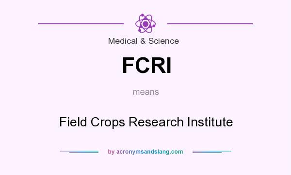 FCRI meaning - what does FCRI stand for?