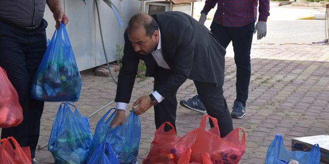 حملة كلية الزراعة لتوزيع المساعدات على العوائل المتعففه